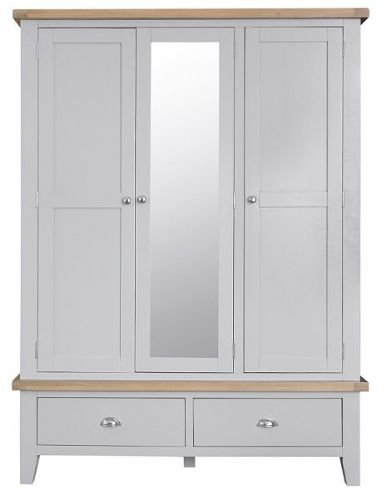 Tunbridge 3 Door  Wardrobe with Mirror